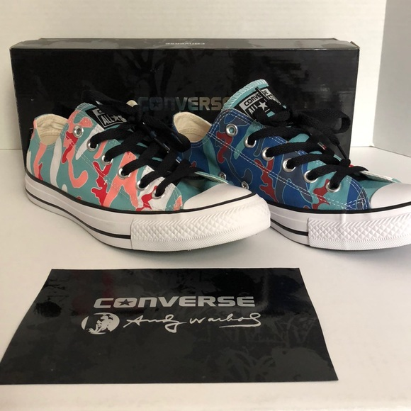 Converse Shoes - Dead Stock!! Converse Andy Warhol Camo Sneakers 9b4aad4a6